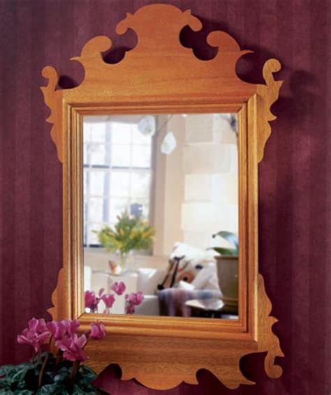 build  original chippendale mirror woodworking plan