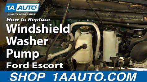 replace fix broken windshield washer pump