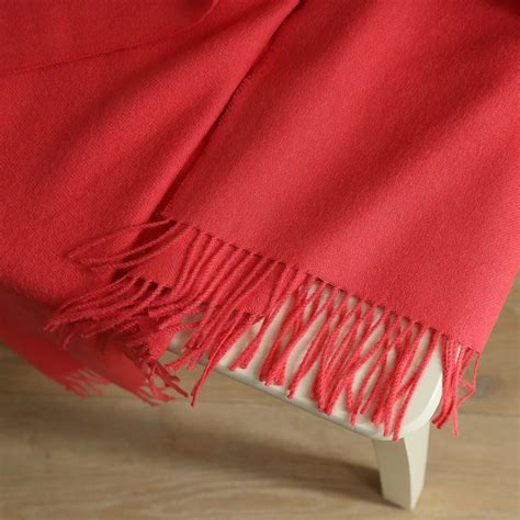 Coral Baby Alpaca Throw Bella  Throws And Blankets Woolme