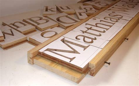 woodworking templates 3d letters with the pantograph