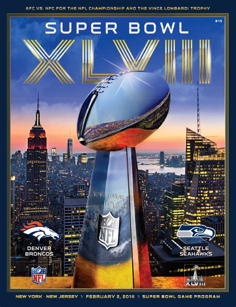 Official Super Bowl Xlviii Program Holographic Stadium
