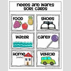 Needs And Wants Sorting Car By Class Of Kinders  Teachers Pay Teachers