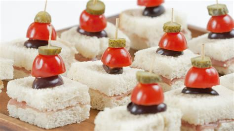 bread canape recipes recipe prosciutto canapés with cornichon skewers