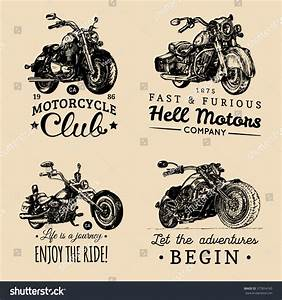 Royalty-free Custom chopper and motorcycle logos set ...