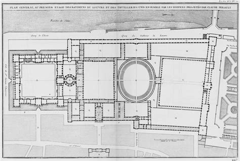 A Plan Of The Louvre's Cour Carrée And The Making Of The