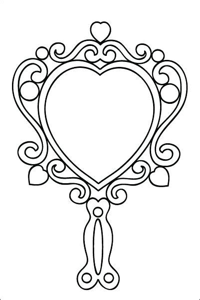 Hand Mirror Template Free Printable Picture Frame