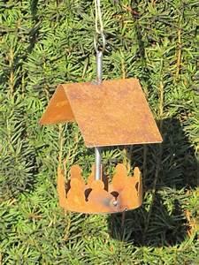 Vogelhaus Zum Hängen : edelrost vogelhaus zum h ngen klein angels garden dekoshop ~ Orissabook.com Haus und Dekorationen