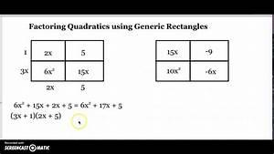 Factoring Quadratics Using Generic Rectangles  1
