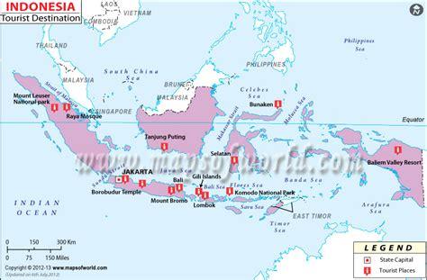 map  indonesia tourist travelquazcom
