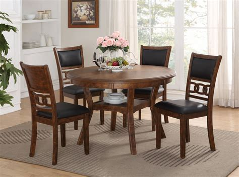 Majik   Gia Brown Dining Table and Four Chairs   Rent To