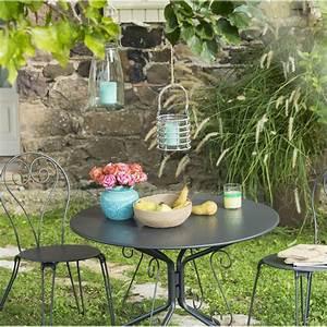 Salon De Jardin Romantique : salon de jardin romantique gris anthracite 2 personnes ~ Dailycaller-alerts.com Idées de Décoration