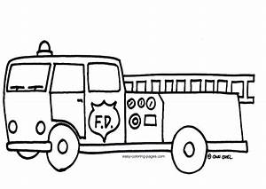 Fire Truck Clipart Black And White Pencil And In Color