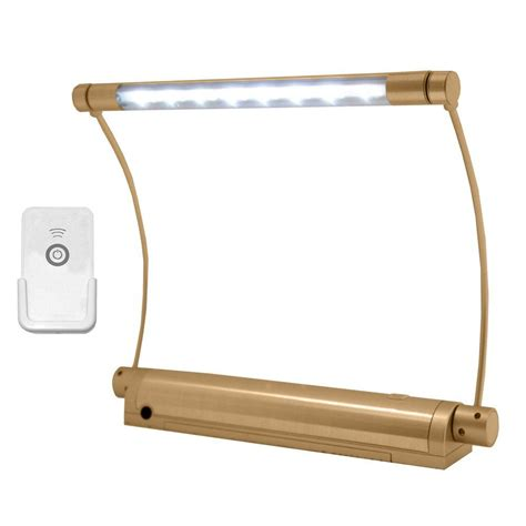 rite lite wireless gold 8 led picture light with remote