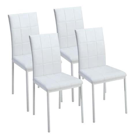 dona lot de 4 chaises de salle 224 manger blanches achat vente chaise salle a manger pas cher