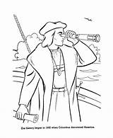 Columbus Coloring Pages Christopher Printable Printables History Clipart Sheets Drawing Activity Ships Sheet Spyglass Discovery Clip Ship Activities Usa American sketch template