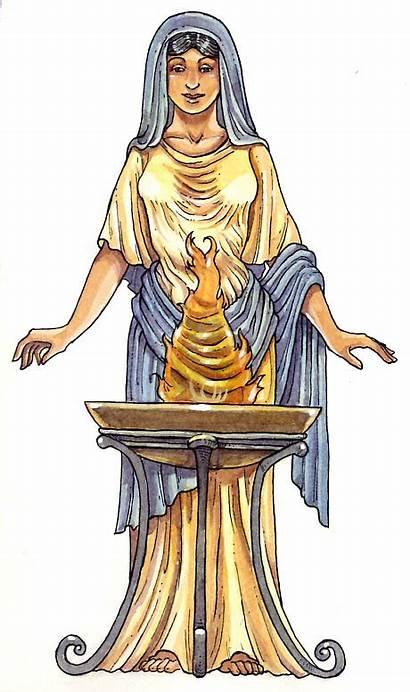 Roman Vesta Gods Goddess Goddesses Ancient Rome