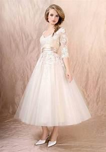 Top 40 Most Loved Tea Length Wedding Dresses | Deer Pearl ...