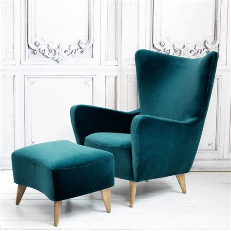 Armchair And Footstool by Elsa Collection Chair Leather Dining Room Chairs