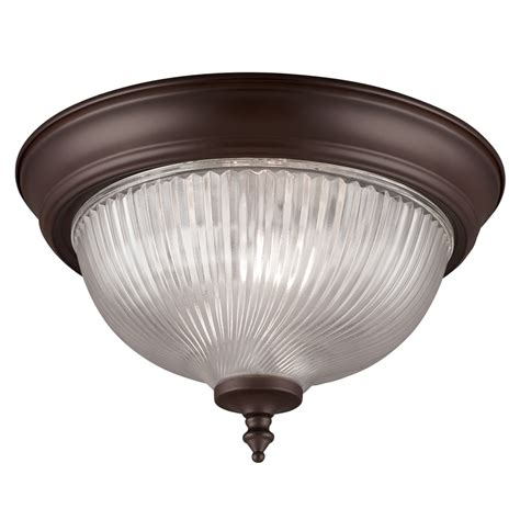 bronze flush ceiling light shop project source 11 in w painted oil rubbed bronze