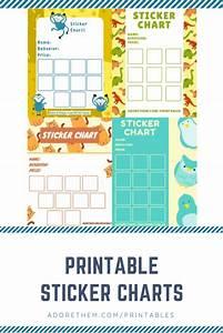 Printable Sticker Charts To Improve Child Behavior