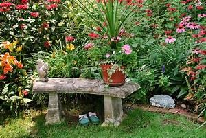 Garden Bench and garden shoes