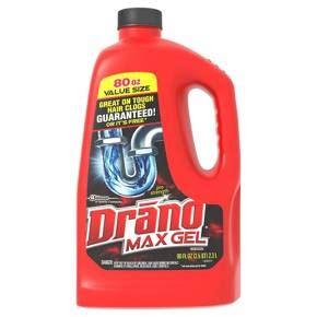 drano max gel clog remover 80 oz target