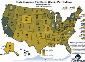 Weekly Map  State Gasoline Tax Rates