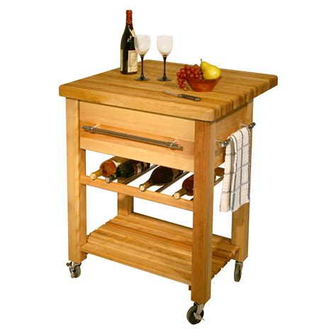 mobile kitchen island butcher best wine carts wood and steel wine racks