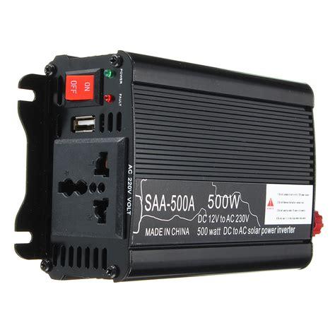 solar power inverter 500w peak 12v dc to 220v ac modified sine wave converter sale banggood com