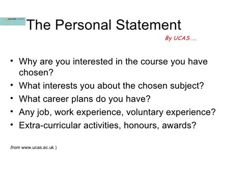 good examples  personal statements  sixth form