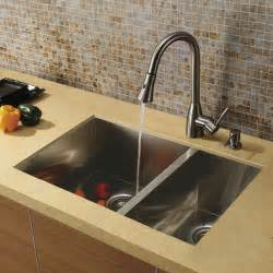 stainless steel faucet kitchen vigo undermount stainless steel kitchen sink faucet and dispenser modern kitchen sinks by