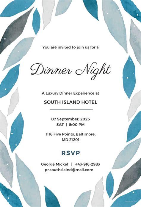 printable dinner invitation templates psd ai