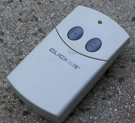 Clicker Brand Garage Door Opener by Clicker Garage Door Opener Remote Manual Free Software