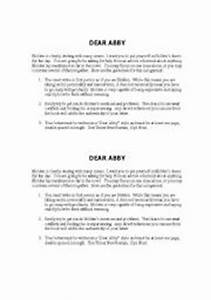 english worksheets catcher in the rye dear abby letter With the letter catcher