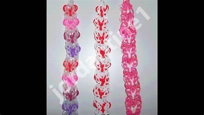 Loom Rainbow Heart Bracelet Valentine Vertical Looms