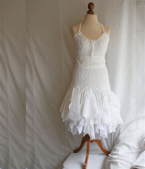 Fairy Dress Wedding Upcycled Abbigliamento Stracciata