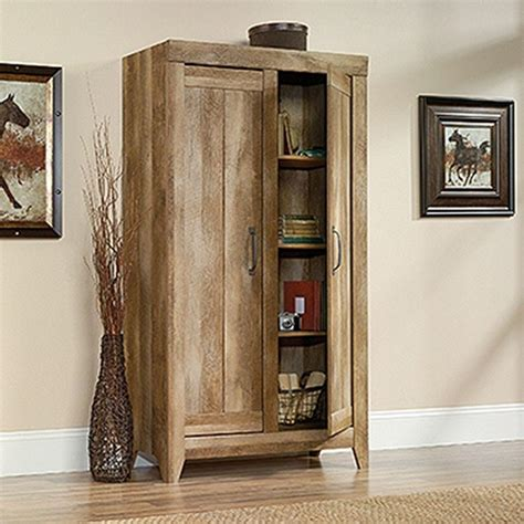 sauder oak storage cabinet sauder adept craftsman oak storage cabinet 418141 the