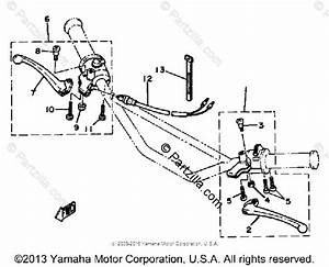 Yamaha Motorcycle 1982 Oem Parts Diagram For Handle Switch