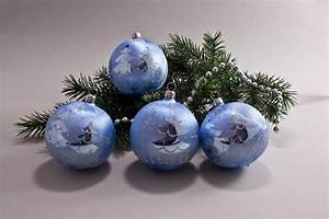 Weihnachtskugeln Glas Lauscha : 4 gro e weihnachtskugeln 10cm eis hellblau silberne tanne ~ A.2002-acura-tl-radio.info Haus und Dekorationen