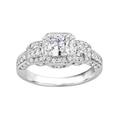 main street jewelers true princess cut diamond vintage style engagement ring