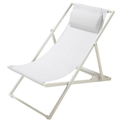 chaise pliante blanche chaise longue chilienne pliante en métal blanche split