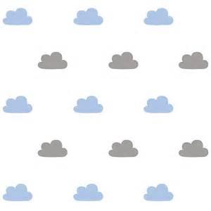 papier peint enfant blanc nuages gris et bleu ma chambramoi