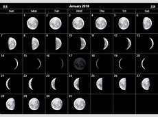 Full Moon & New Moon Calendar January 2018 January 2019