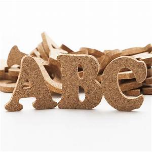 cork alphabet letters word and letter cutouts With cork alphabet letters