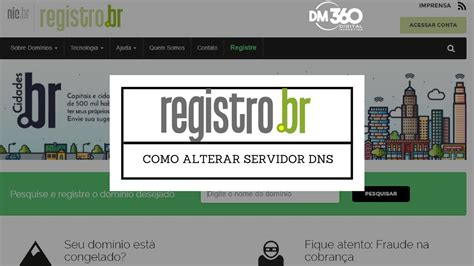 registrobr como alterar registro dns tutorial youtube