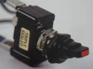 Switch - Toggle Sealed Off On Red Tip 30 Amp Single Pole K-four Plastic
