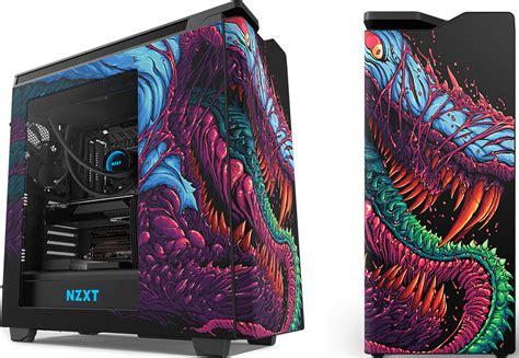 nzxt splashes  mid tower case  hyper beast