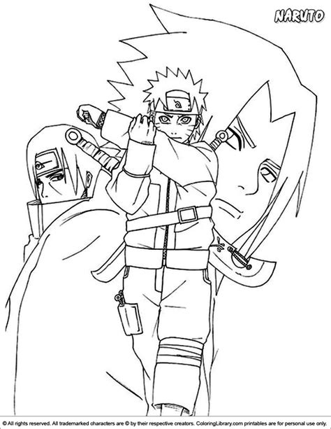 naruto  coloring page  children coloring library
