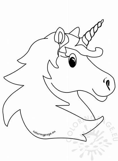 Unicorn Head Coloring Printable Magic Clipart Carnival