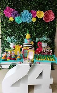Decoração de festa tema Tropical (Flamingo) Mayara Vieira
